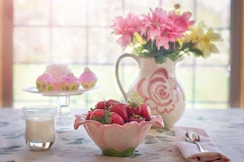 Foto profissional grátis de creme, decoração de interior, fruta, fruto