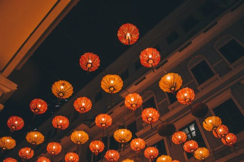 Low Angle Photo of Chinese Lanterns during Nighttime