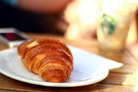 morning, breakfast, croissant