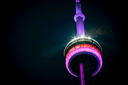 加拿大, 加拿大國家電視塔, 加拿大塔, 城市之夜 的 免费素材照片
