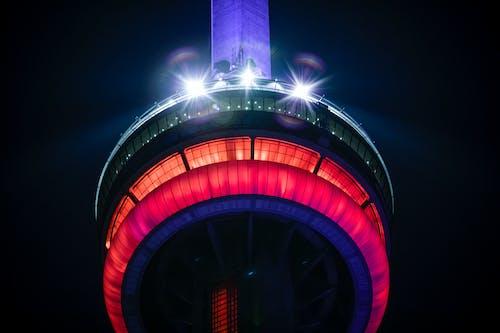 加拿大, 加拿大國家電視塔, 城市之夜, 塔 的 免费素材照片