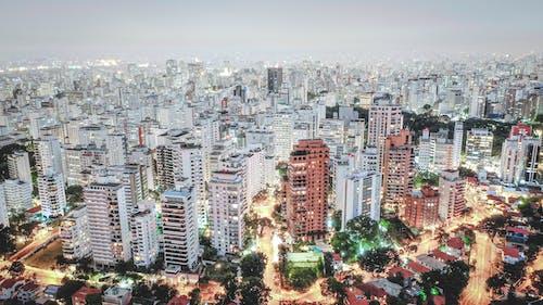 Ingyenes stockfotó alkonyat, belváros, drónfelvétel, építészet témában