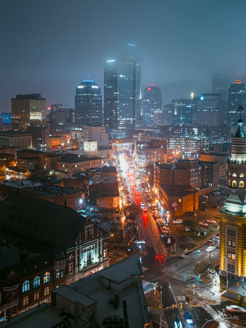 Aerial Photography of Cityscape during Nighttime
