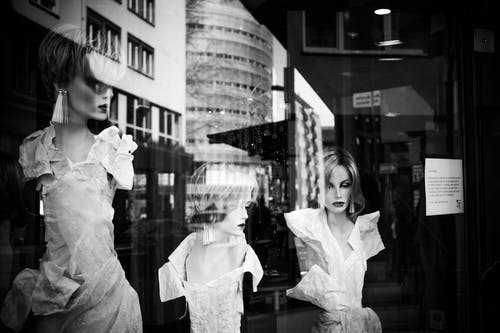 Free stock photo of black white, mannequin, mannequins