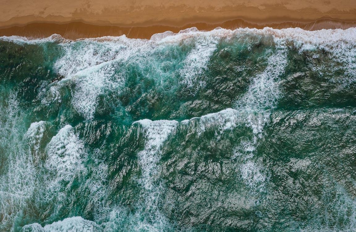 bij de oceaan, bird's eye view, buiten
