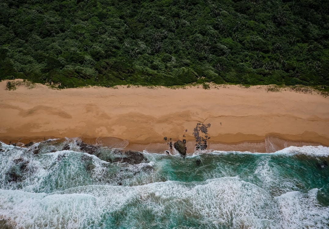 Top View Photo of Beach