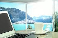 sea, landscape, coffee