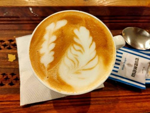Free stock photo of capachinno, coffee, coffee art, yummy