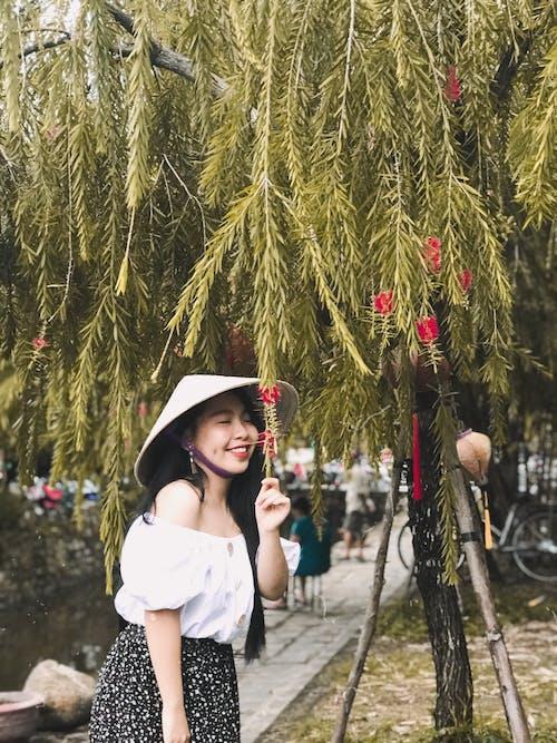 Free stock photo of beautiful flower, beautiful girl, nature, outside