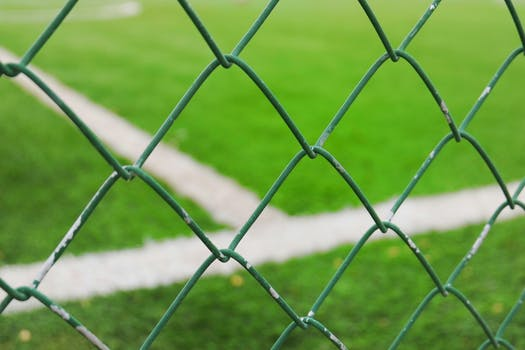 Free stock photo of metal, grass, green, fence