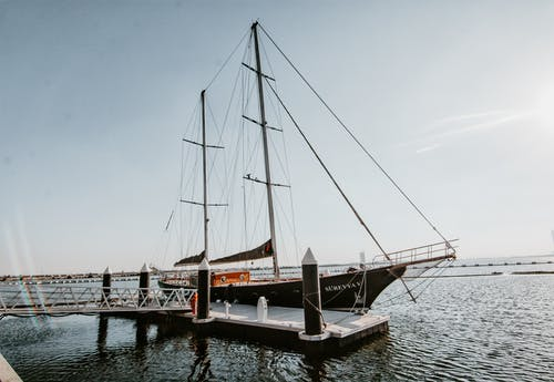 Black Sailboat on Port