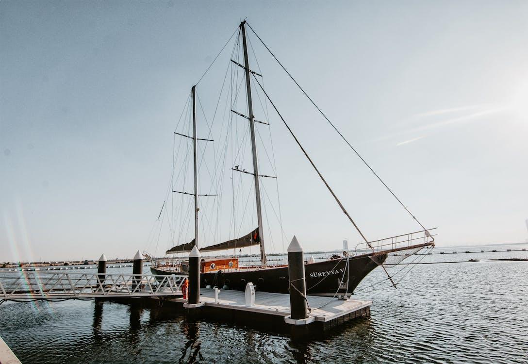 Black Sailboat on Port