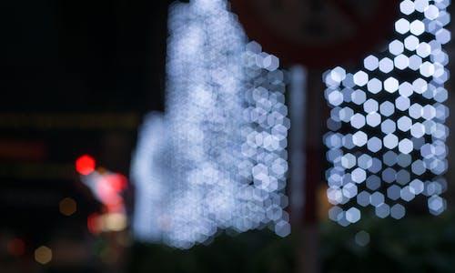 Foto d'estoc gratuïta de bokeh, ciutat nit, clareja, festiu