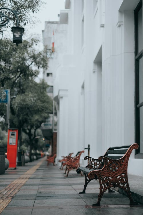 Free stock photo of abandoned, alley, autumn, bench