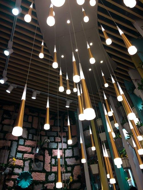 Free stock photo of bright lights, chandeliers, decor, interior