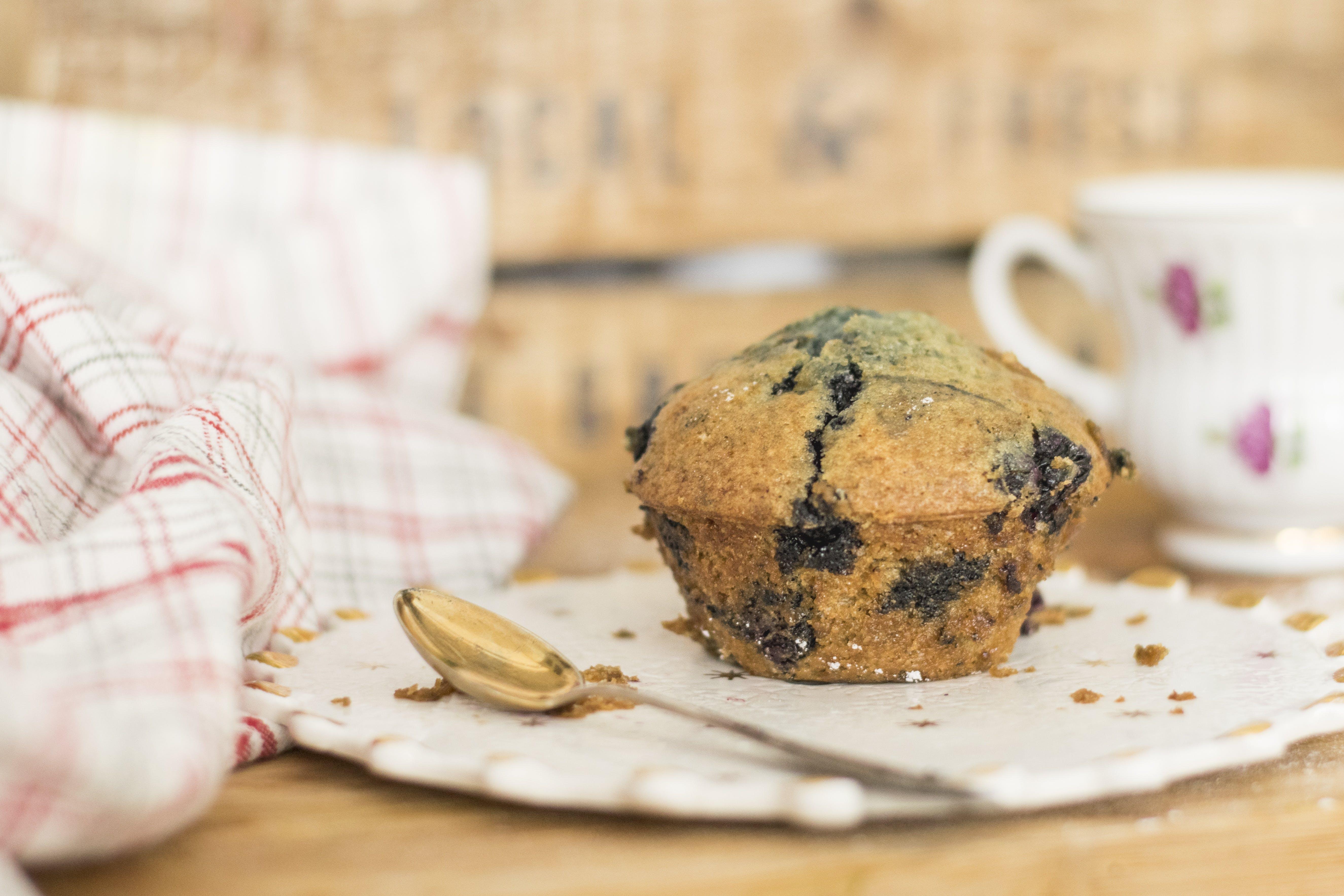 blaubeere, cupcake, essen