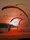 dawn, sunset, flying