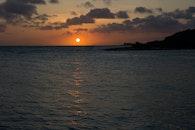 sea, sunset, ocean