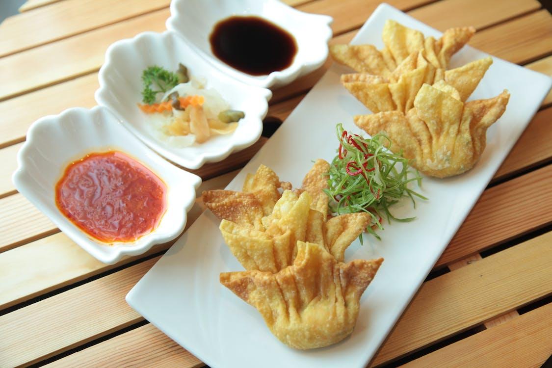 Deep Fried Dumplings Dish