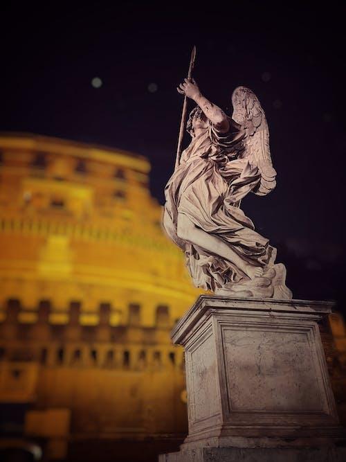 heykel, melek, Roma içeren Ücretsiz stok fotoğraf