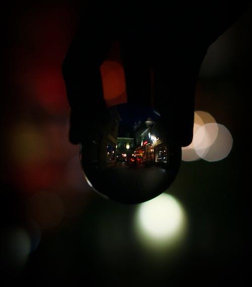 Photos gratuites de à l'envers, abstrait, bokeh, boule de cristal