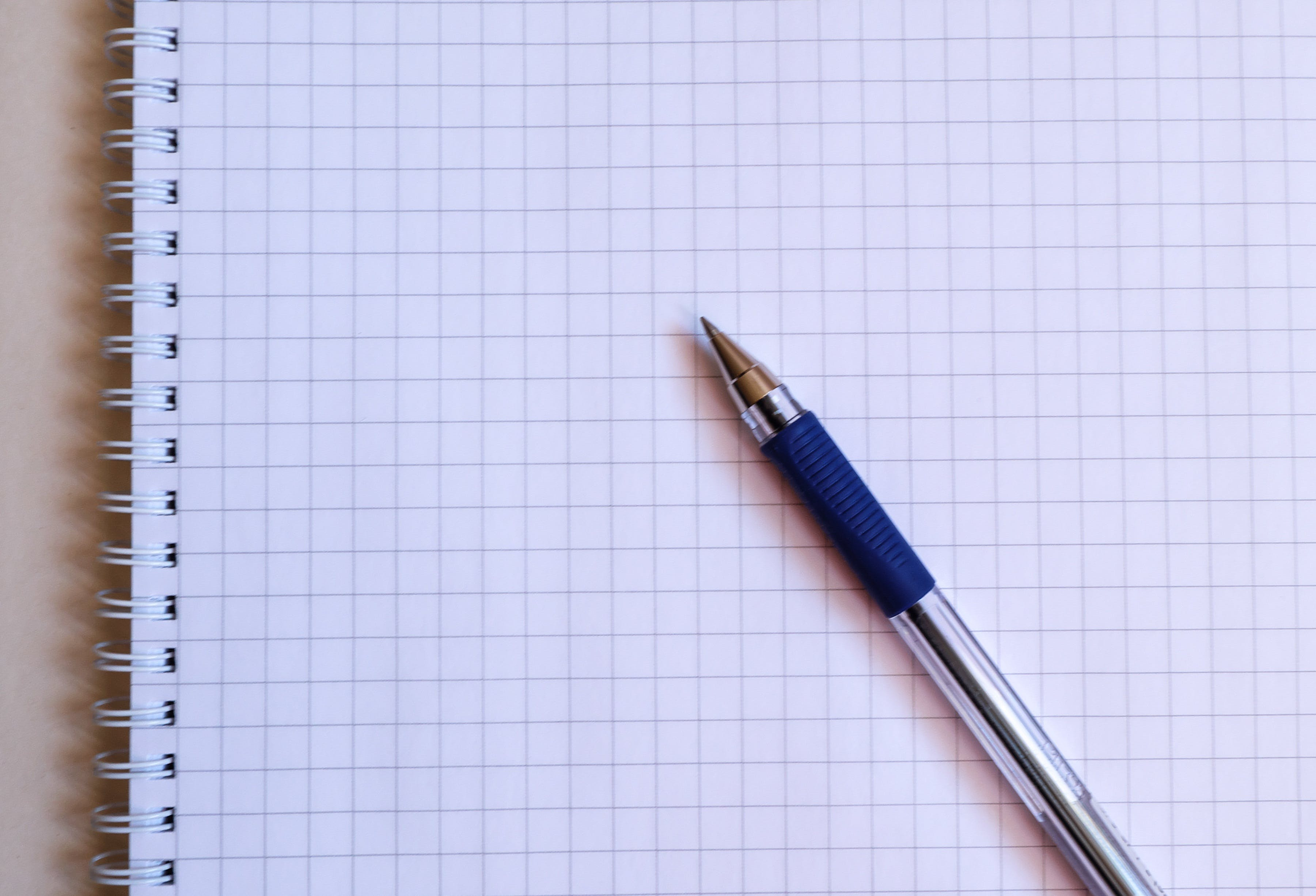 Clear and Blue Ballpoint Pen