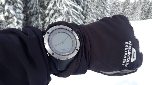 Person Showing Digital Watch