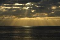 sea, nature, sunset