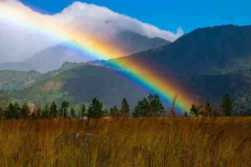 Free stock photo of Bajareque, mountain, rainbow