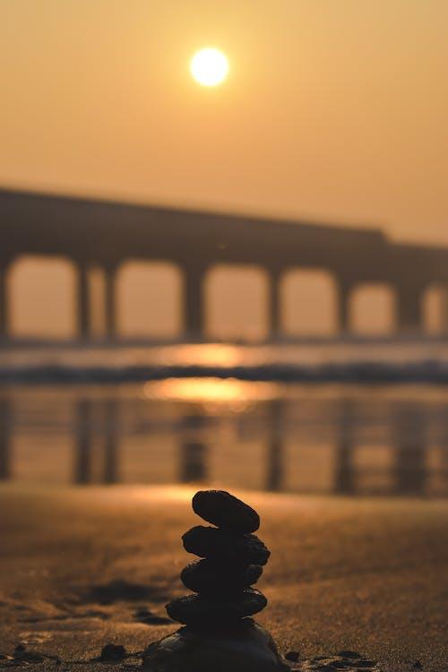Free stock photo of Bay Bridge, beach, beach shore, golden hour