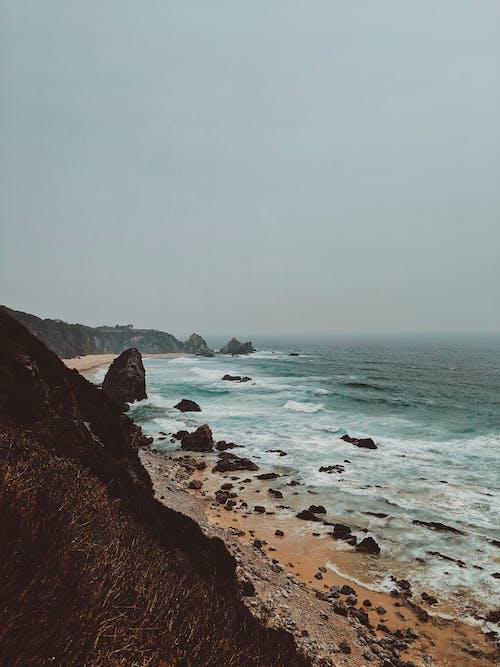 바다, 바다 경치, 암석 해안, 암초 해안의 무료 스톡 사진