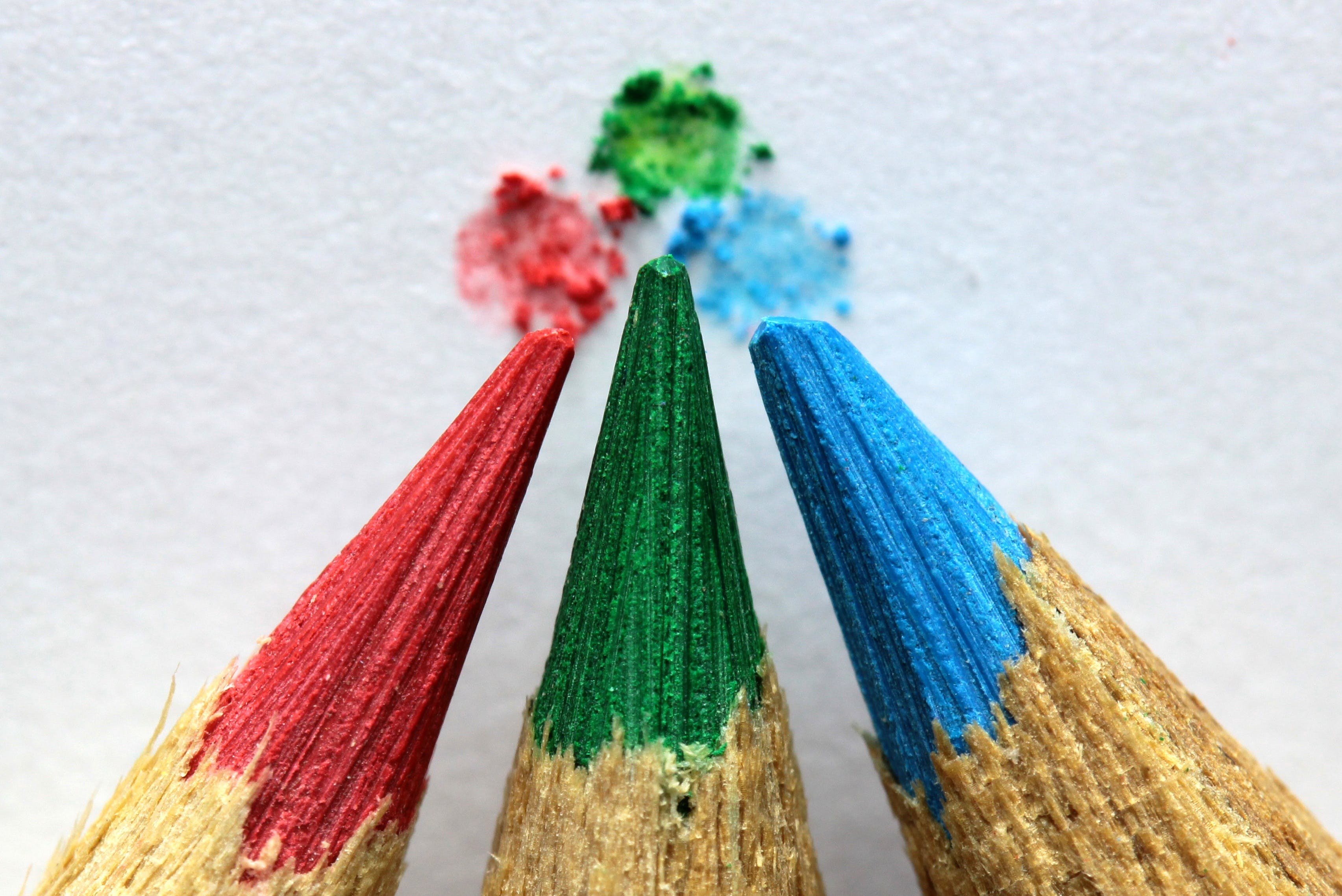 Macro Photo of Color Pencil Tips