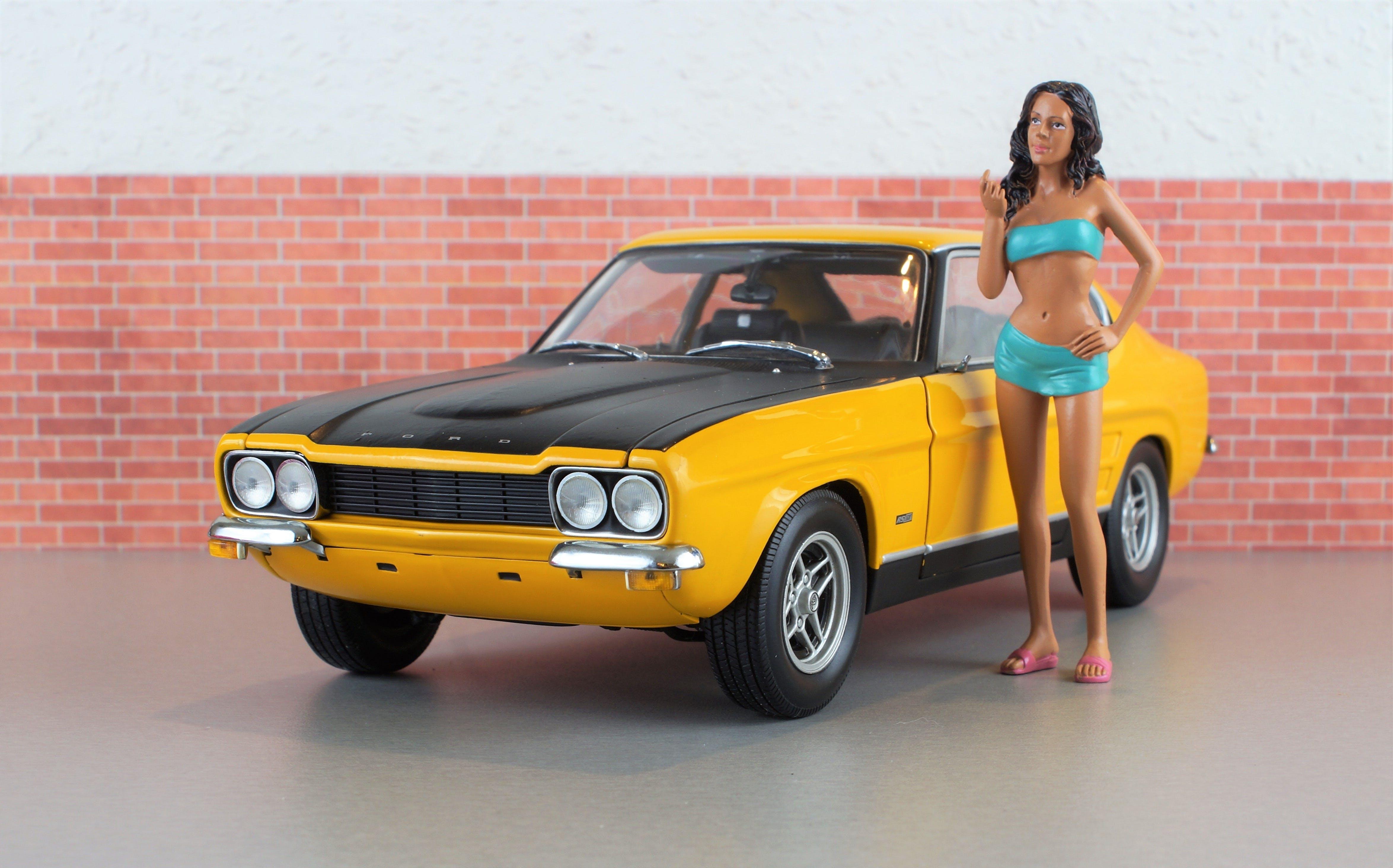 Free stock photo of yellow, model, vehicle, old
