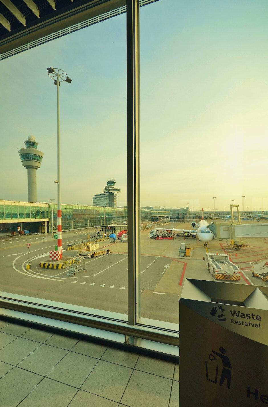 airplane, airport, plane