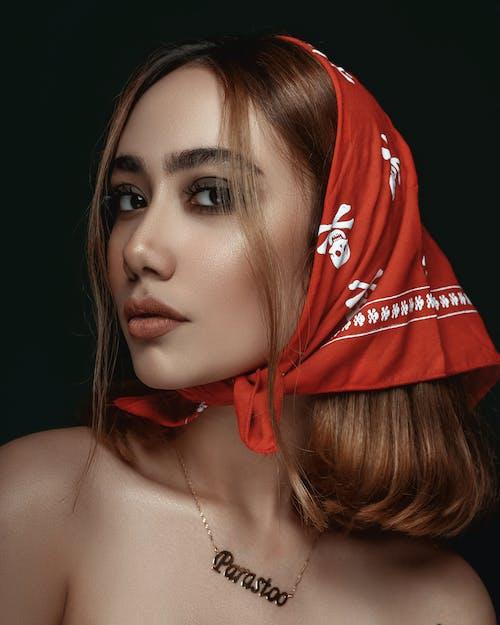 Woman Wearing Red Bandana