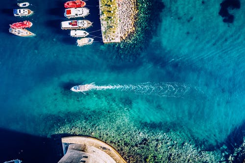 Aerial Photography of Boats in the Sea