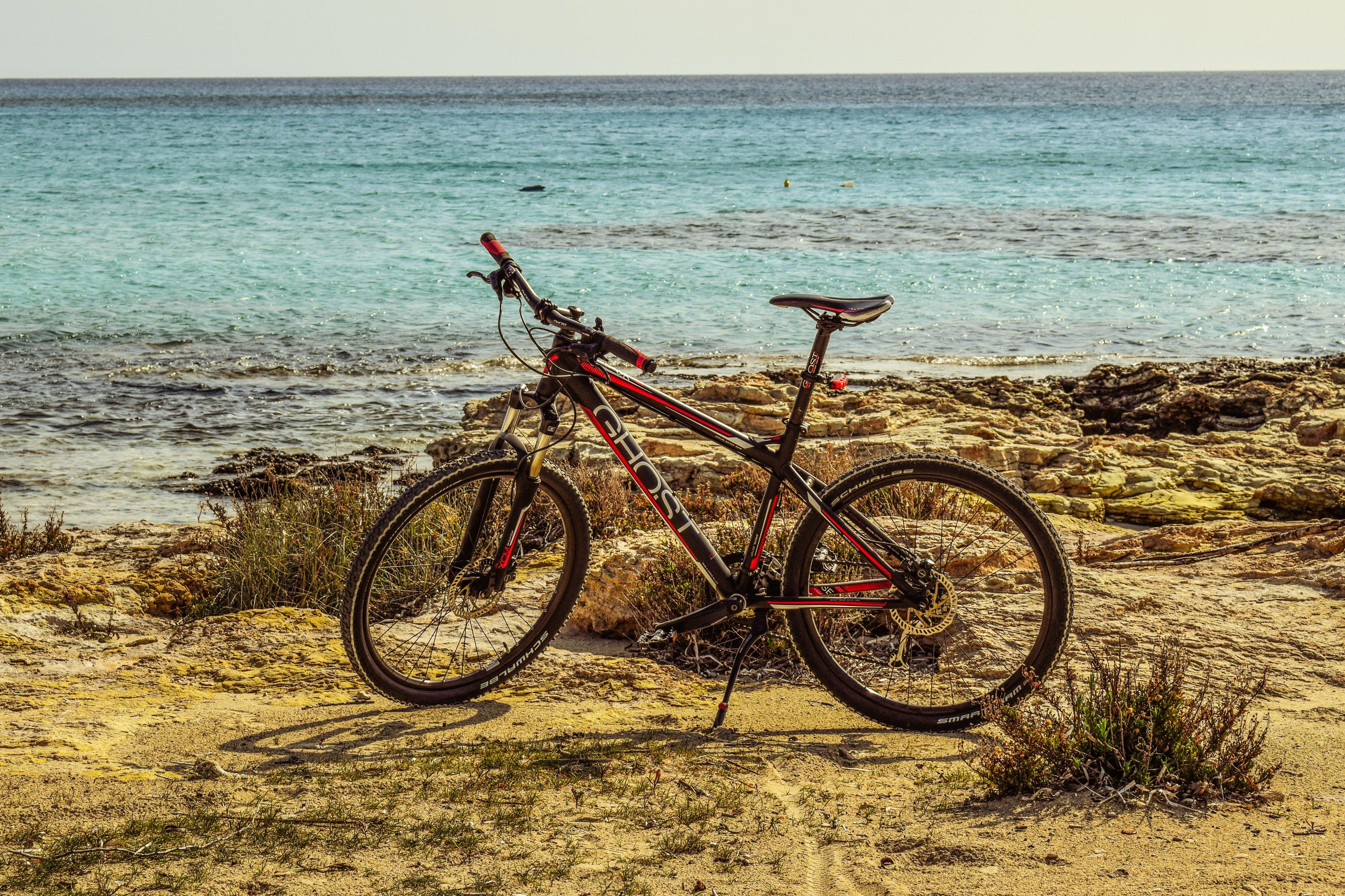 Free stock photo of adventure, beach, bicycle, bike