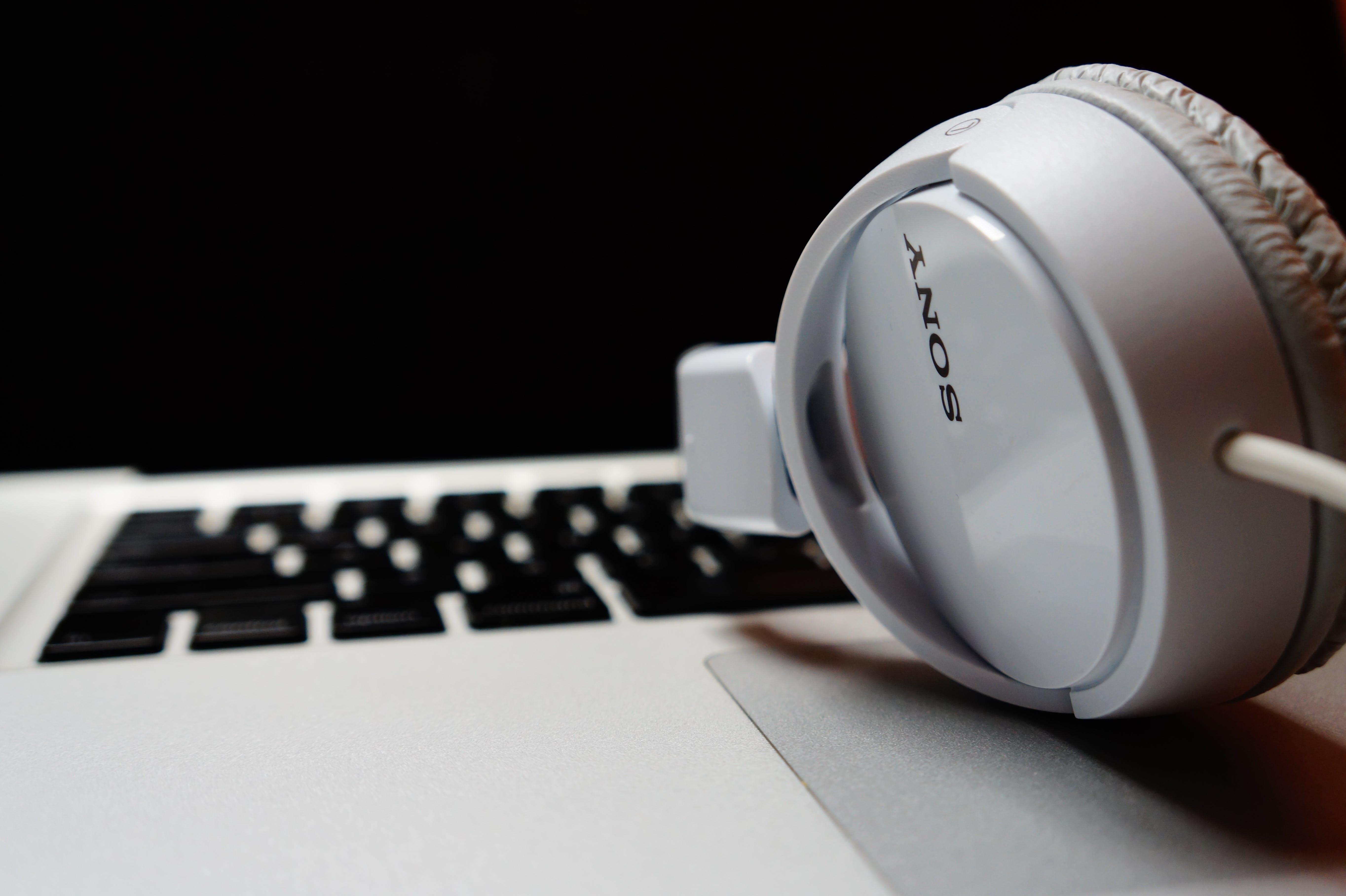 White Sony Over-ear Headphones