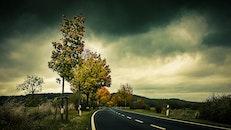 light, road, dawn