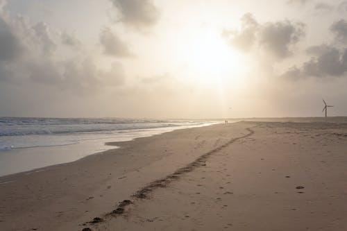 deniz, gün batımı, kıyı içeren Ücretsiz stok fotoğraf