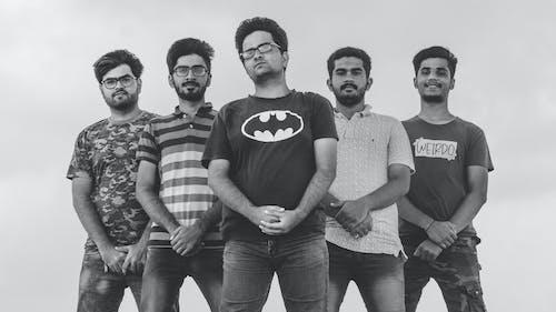 5 genç erkek içeren Ücretsiz stok fotoğraf