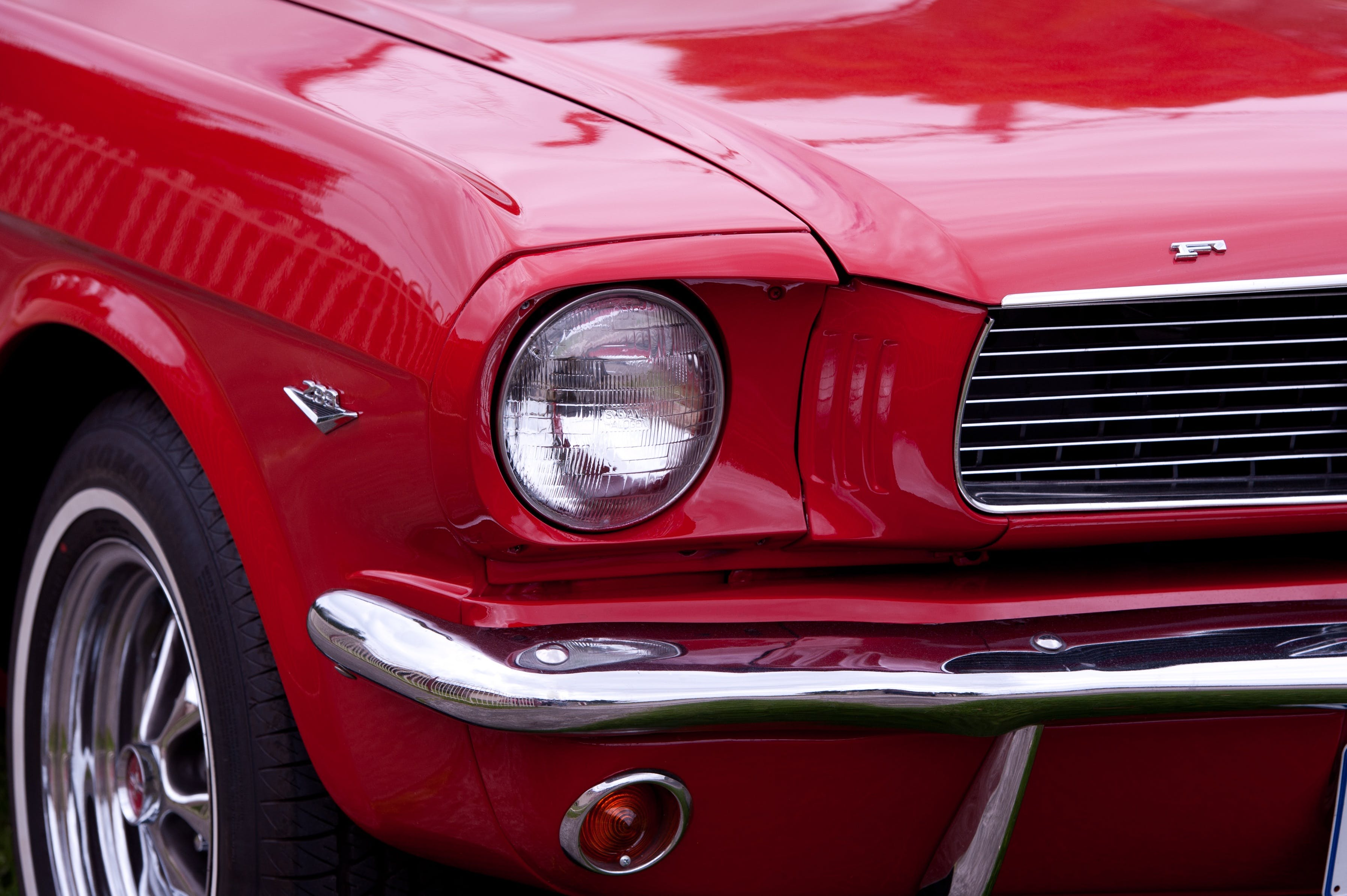 Free stock photo of red, car, mustang, ford