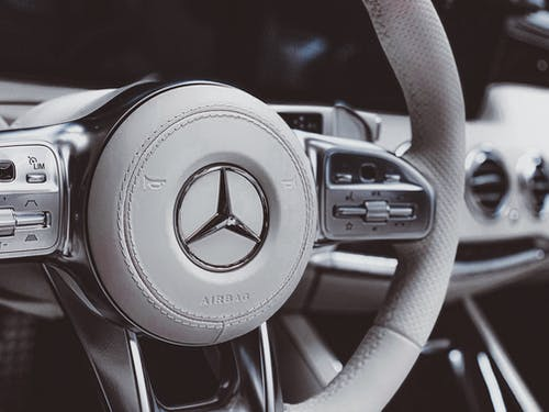 Gray Mercedes-Benz Steering Wheel