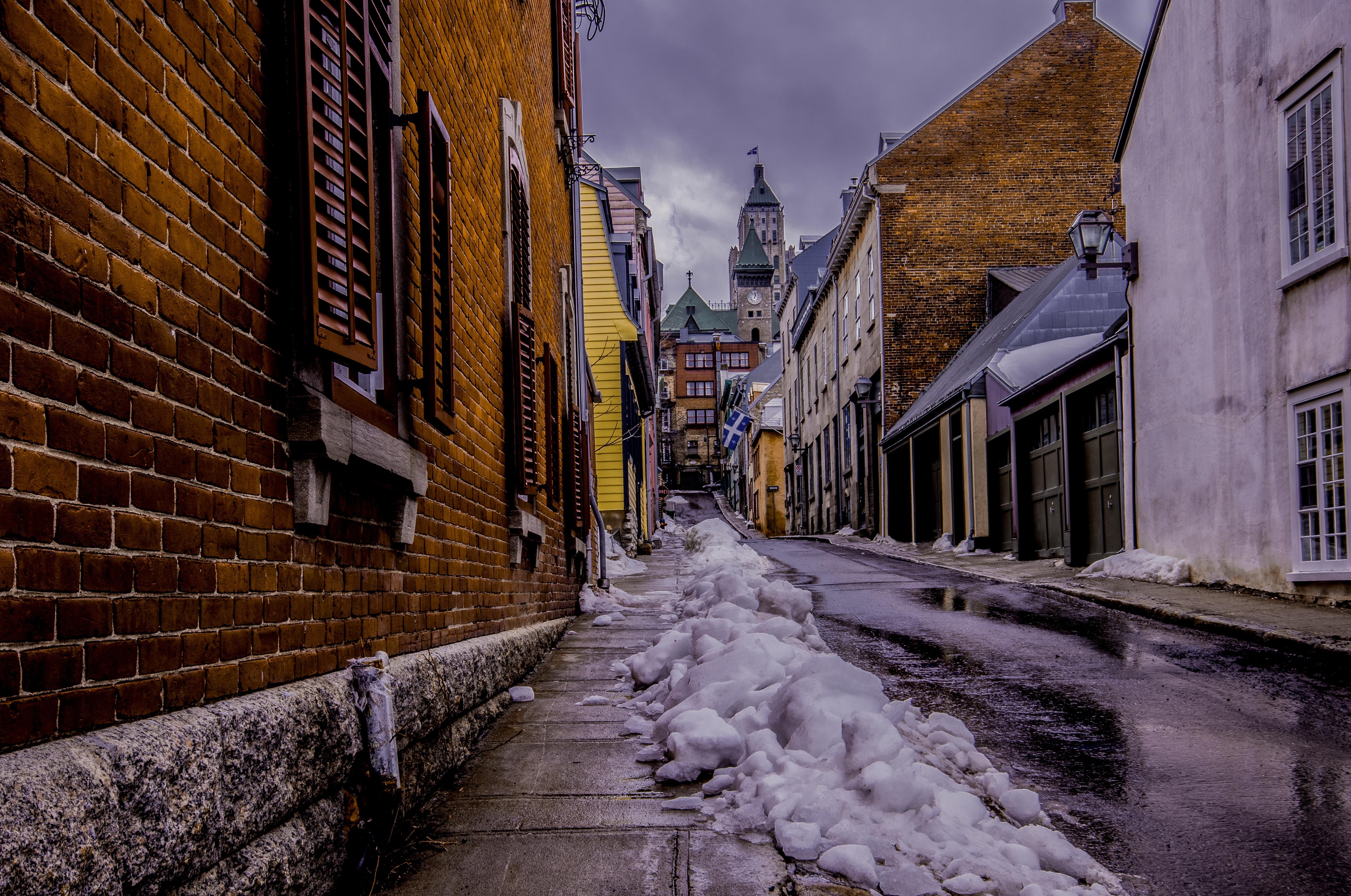 Free stock photo of melting, snow, light, city