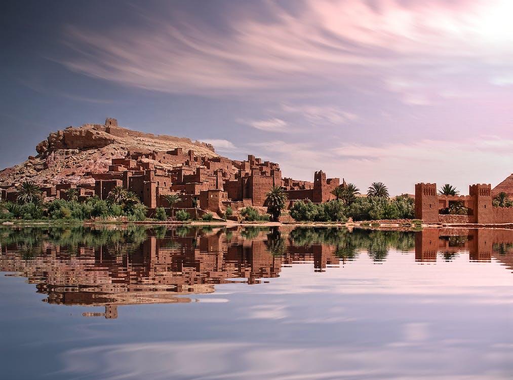 arquitectura, ciutat, desert