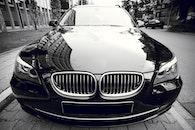black-and-white, street, car