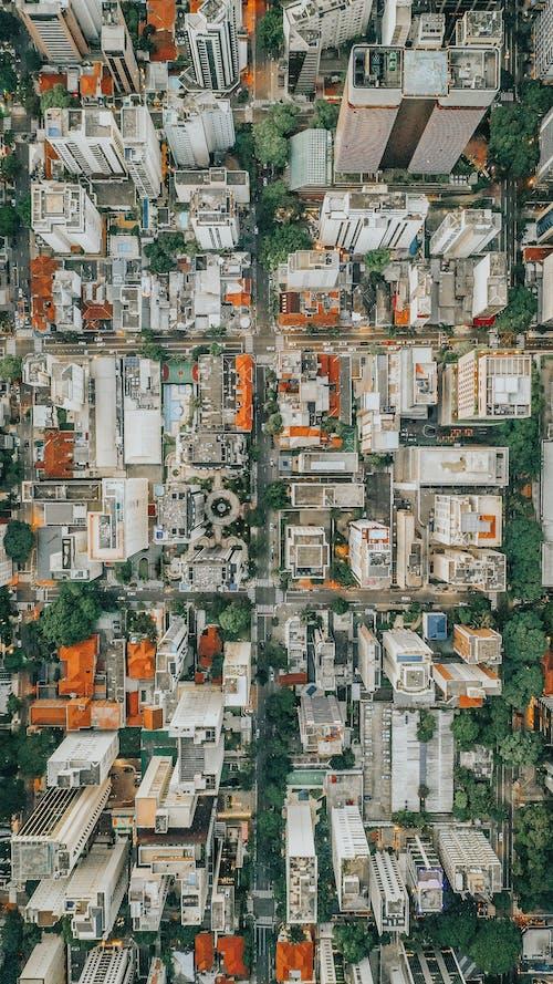Kostnadsfri bild av antenn, arkitektur, byggnader, dagsljus