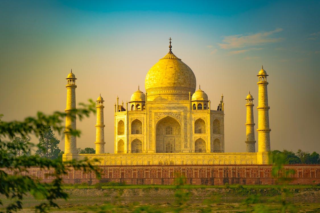 The Taj Mahal During Sunset