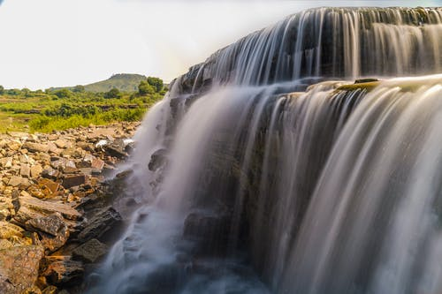 Scenic Photo Of Waterfall During Day Time