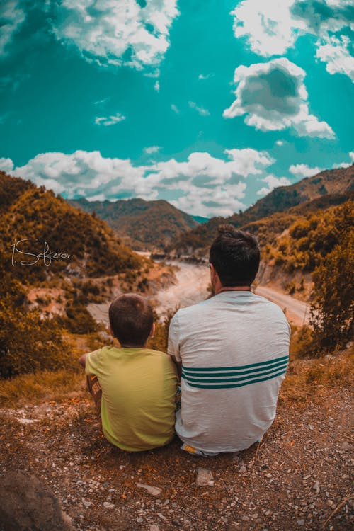 Free stock photo of clouds, father, father and child, father and son